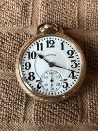 1928 Illinois Railroad Pocket Watch