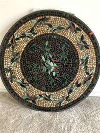 Nellie Olsen 36 inch round mosaic table - Price $400.00