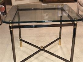 Chrome & Glass End Table - $125 firm