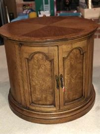 Price $150 firm -Solid wood  End Table - doors opens up for storage area