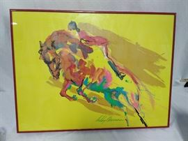 LeRoy Neiman Racehorse Framed Painting (1981)  https://www.ctbids.com/#!/description/share/6049