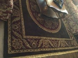 Coliseum Sable Brown Rug - 100% Wool Pile - Handcrafted in India 8' x 11'