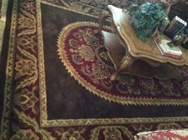 Coliseum Sable Brown Rug - 100% Wool Pile - Handcrafted in India 8' x 11' (we also have the same pattern in a 5' x 8' size)