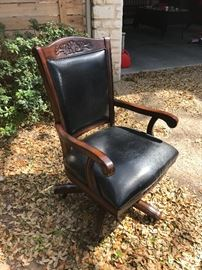 Coaster Fine Furniture leather and wood office chair @ $155 (new $300)