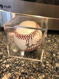 Signed Round Rock Express baseball by NOLAN RYAN @ $50