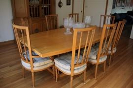 Dining Table, 8 Chairs and Breakfront
