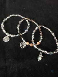 Three (3) Strand Stretch Bracelet - Multi-Beaded