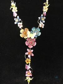 Flower and Butterfly 3D Necklace