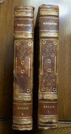 2 Volumes of Montaigne (in French), 1792 editions