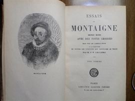 2 Volumes of Montaigne (in French)