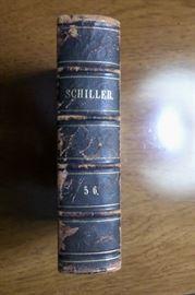 One of 2 volumes of Schiller, circa 1847