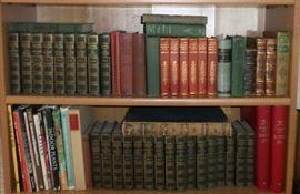 Twenty five leather bound volume set of Authorized Uniform Edition Books by Mark Twain, circa 1920