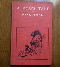 """1904 edition of """"A Dog's Tale"""" by Mark Twain"""