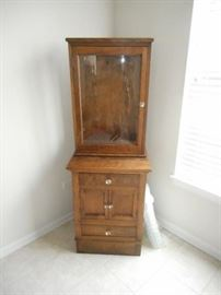 vintage Apothecary/Medical cabinet, two pieces, in very good condition for its age.