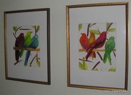 Two water color Bird Pictures