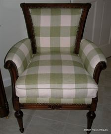 Beautiful green and white Side Chair