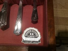The International Silver Co.  Silverware set - tarnish resisting with Chest
