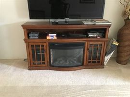 Faux Electric Fireplace entertainment stand
