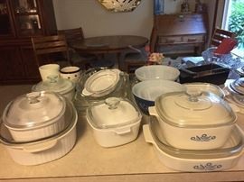 as-new corning ware, $4.00-$8.00