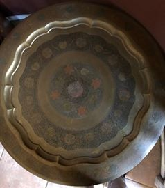 Beautiful Carved Metal Table Top (China)