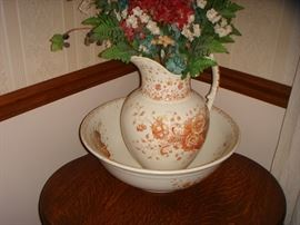 York, J.H.W. & Sons pitcher and wash bowl