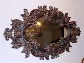 Huge hand carved mirror