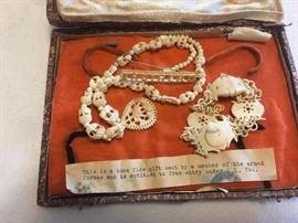 Bone Jewlry set from Wold war 11