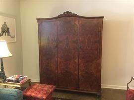 Amazing armoire - hanging space on left and shelves on right