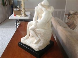"""The Kiss"" Sculpture by Artist: Auguste Rodin"