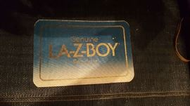 La-Z-Boy hide a bed label.