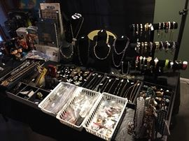 Tons of Jewelry. Vintage, Costume, Graduated Pearl Necklaces, Some Sterling & 14k.