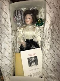 Gibson Girl Doll with accessories. Never taken out of the box.