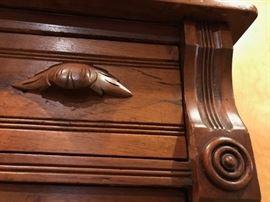 Closeup of drawer handle