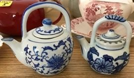 """Miniature tea pots - these are 1-2"""" tall"""
