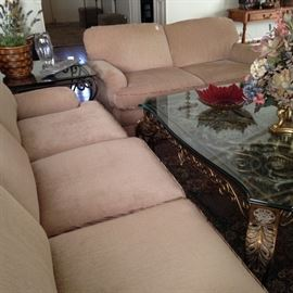 Great sofa and love seat - very good condition