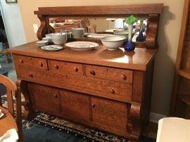 Empire oak dining set