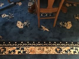 Navy blue rug Chinese