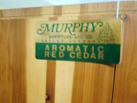 Murphy Cedar Wardrobe