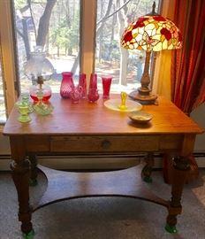 Circa 1910 oak library table
