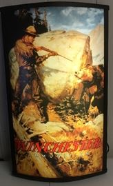 Winchester lite-up advertising sign in original box