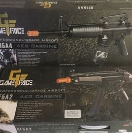 GameFace GF15A4 and GF5A2 Paintball rifles in original boxes