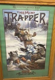 Framed Remington advertising poster