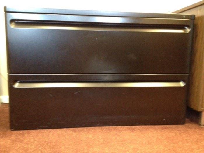 2 drawer black file 41w x 18d x 25h