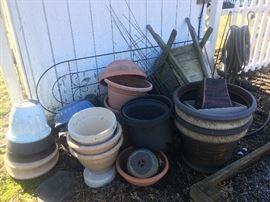 more pots/ planters