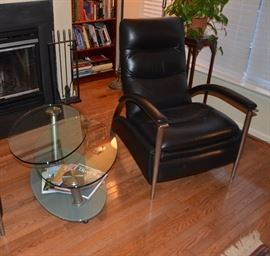 Ethan Allen Recliner ( one of a pair) and articulating table from Theodore's
