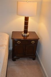 Pair of MCM lamps and pair of Drexel night stands (lamps and night stands sold separately)