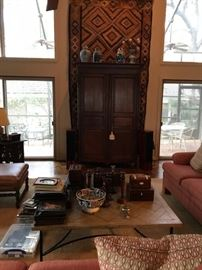 "Beautiful armoire- entertainment center  5' W X 7' 4"" High"