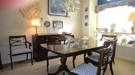 RWay dining room set, Table w/ 6 chairs, 1 leaf, table pads, Matching buffet , Matching China Cabinet, Excellent condition