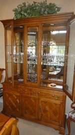 American of Martinsville Lighted china cabinet – matching