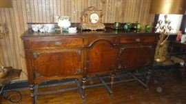 Buffet, matching table and china cabinet
